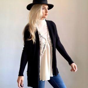 Madewell Alpaca & Wool Black Sweater Cardigan xs